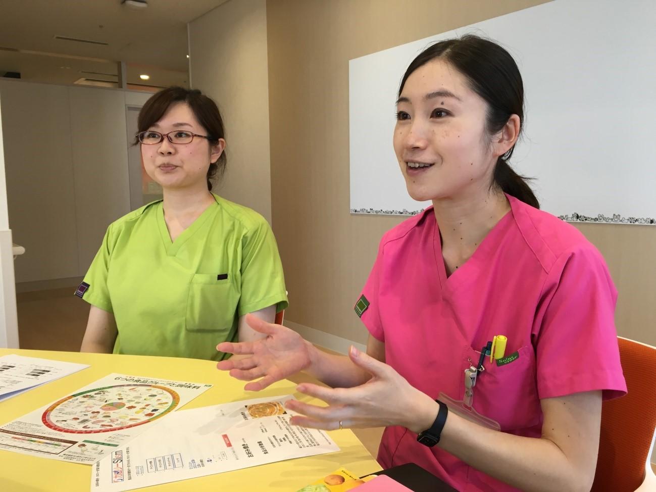 管理栄養士の水口尚子さん、近藤如子さん